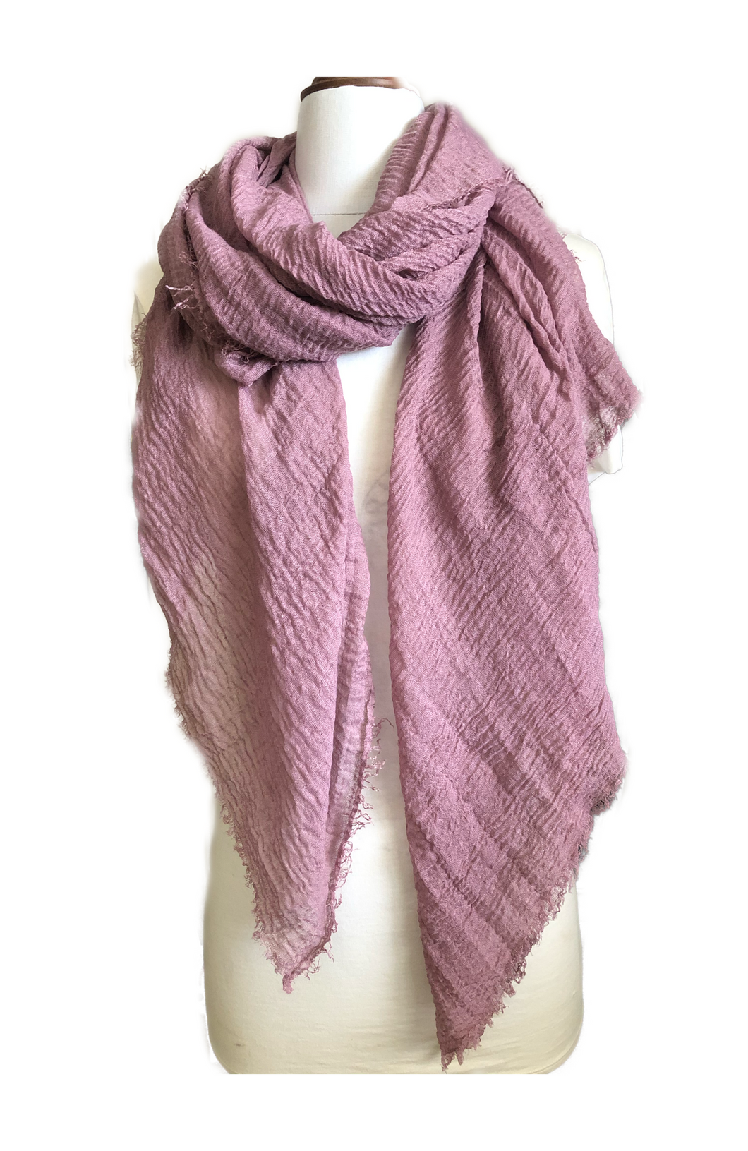 Muted Grape Plain Coloured Scarf