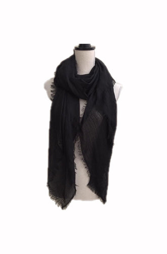 Plain Scarf Black