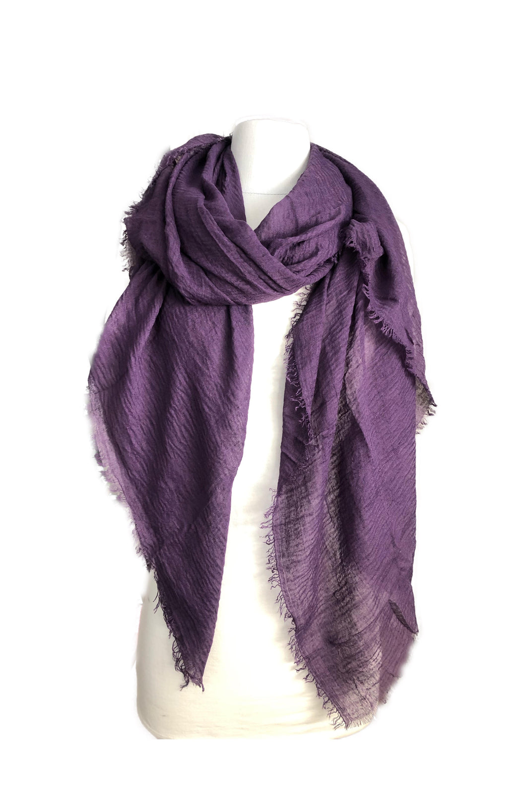 Deep Purple Plain Coloured Scarf