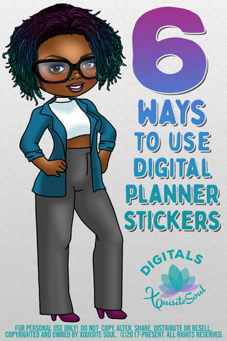 6 Ways to Use Digital Planner Stickers