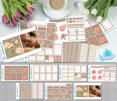 Mother's Day African American Weekly Kit for Erin Condren