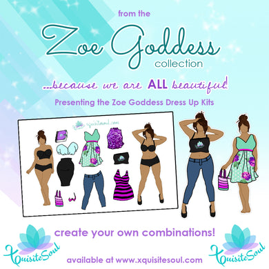 Zoe Goddess Tan Skin Dress Up Kit