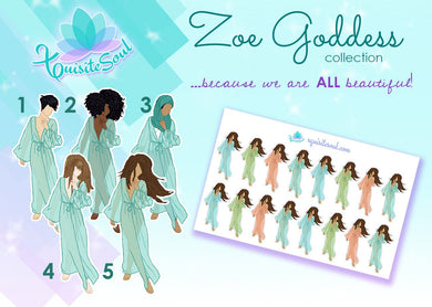 Zoe Goddess Collection Doll Stickers