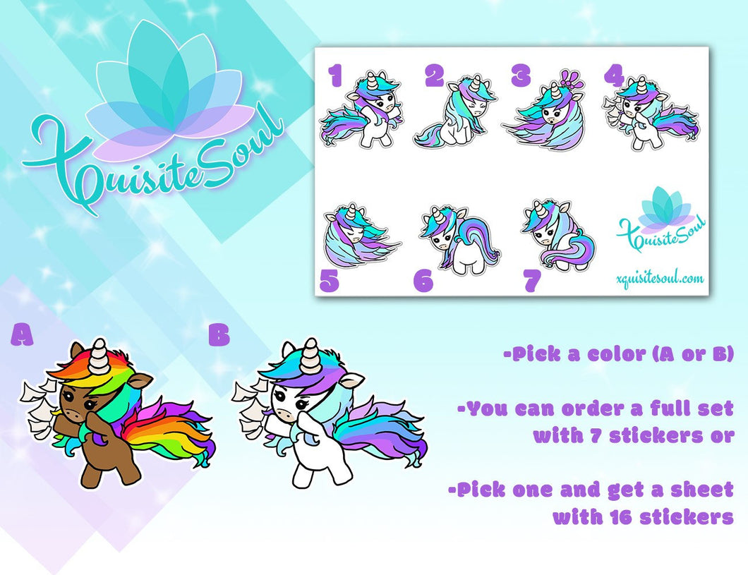 Sassy Unicorn Stickers