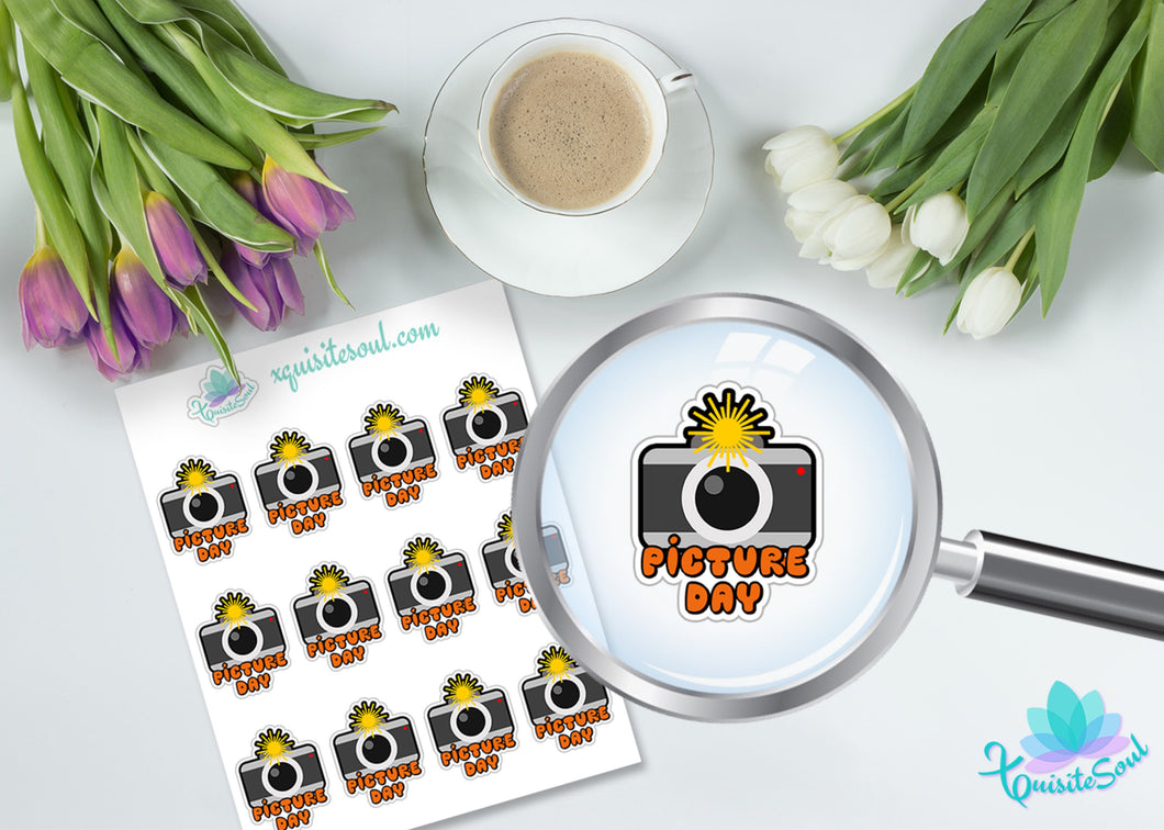 Picture Day School Planning Sticker Set