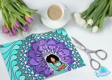 Teal and Purple African American Vellum Dashboard