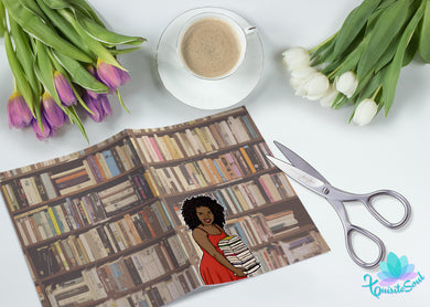 Book Lover African American Vellum Dashboard