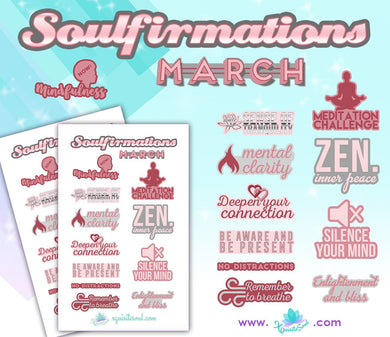 March Soulfirmations 12.0 - 12 Month Self-Care Challenge