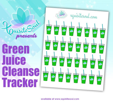 Green Juice Cleanse Planning Stickers