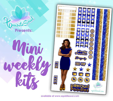 Royal Blue and Gold Sorority Stickers African American Mini Weekly Kit