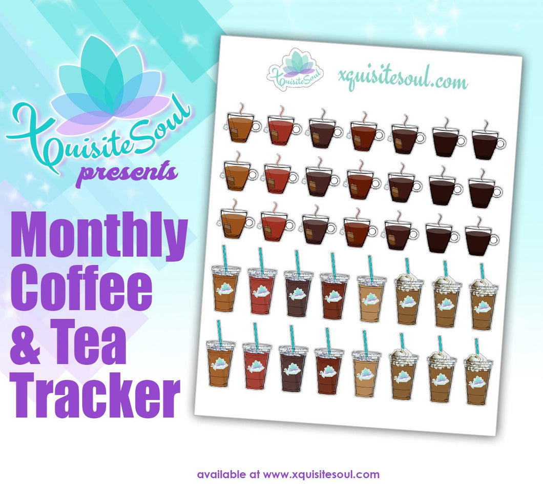 Coffee and Tea Planning Sticker Set