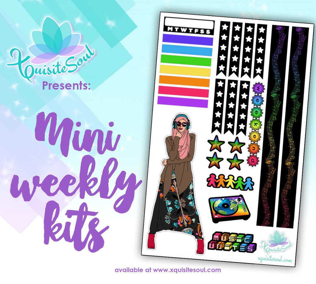 Music Unites Hijabi Woman Mini Weekly Kit
