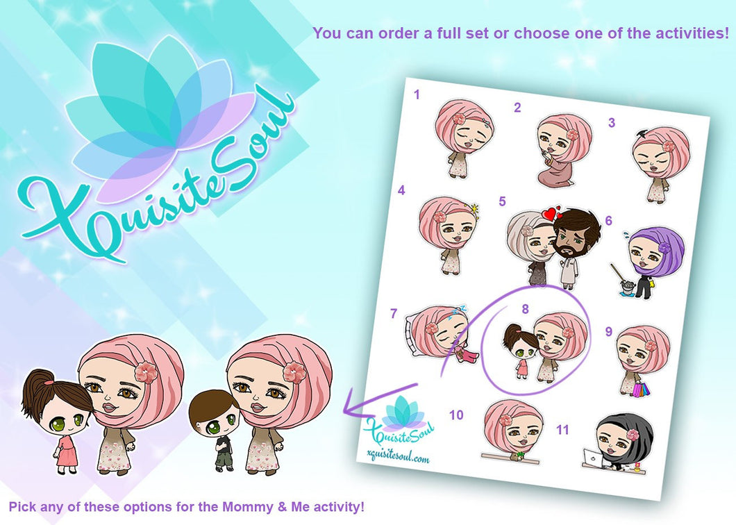 Leilia Muslim Hijab Girl Activity Stickers