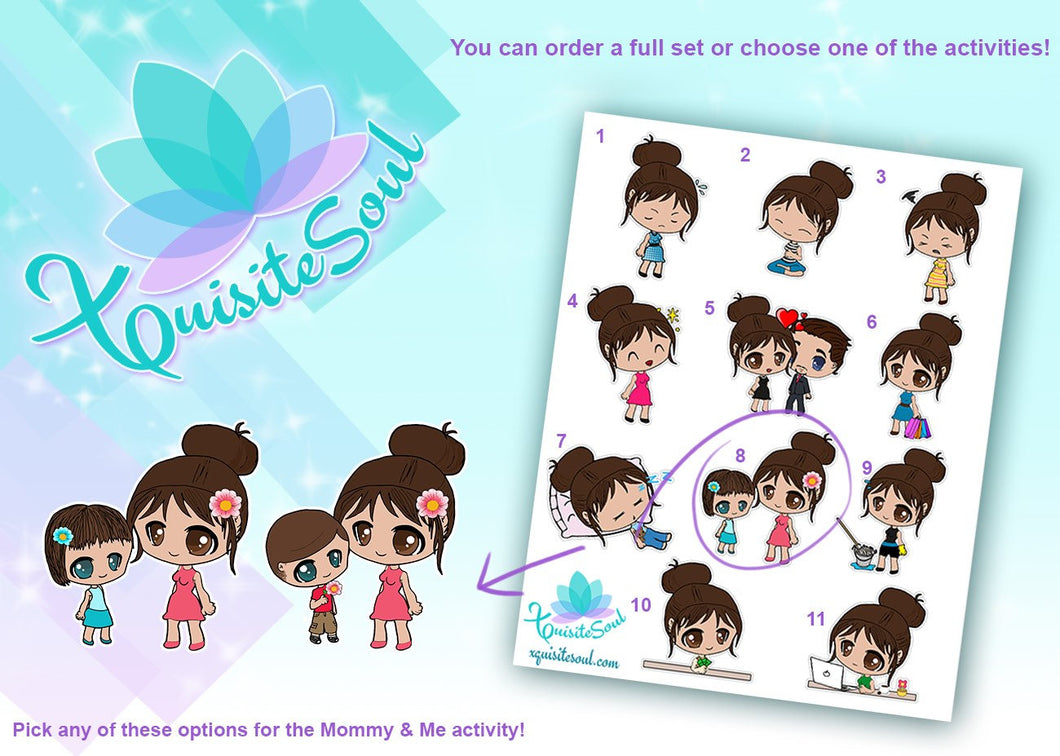 Leslie Brunette Girl Activity Stickers