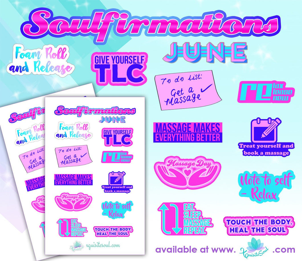 June Soulfirmations 18.0 - 12 Month Self-Care Challenge