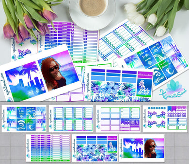 Blue Sauble Beach African American Weekly Kit for Erin Condren Planner