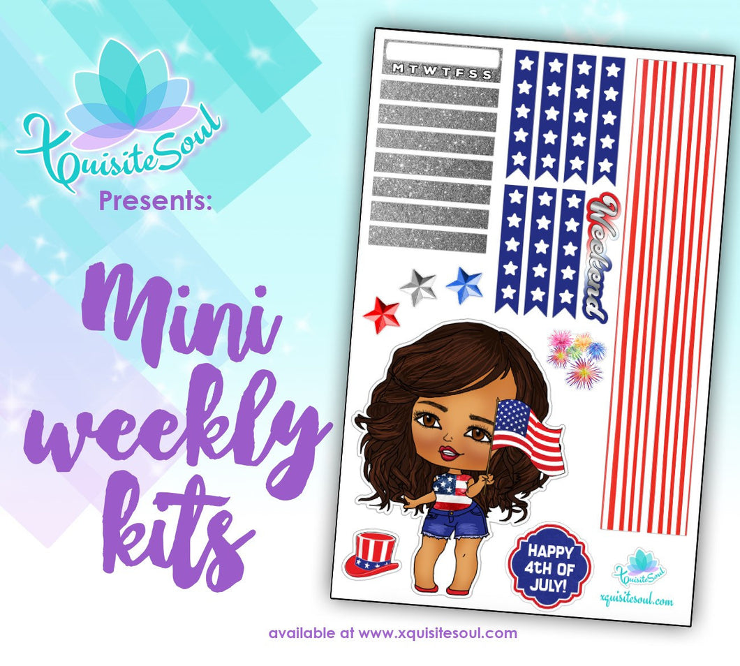 4th of July Light Skin XQuibi Mini Weekly Kit