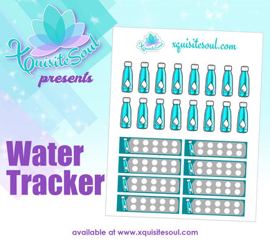 Water Tracker Planner Sticker Set