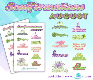 August Soulfirmations 21.0 - 12 Month Self-Care Challenge