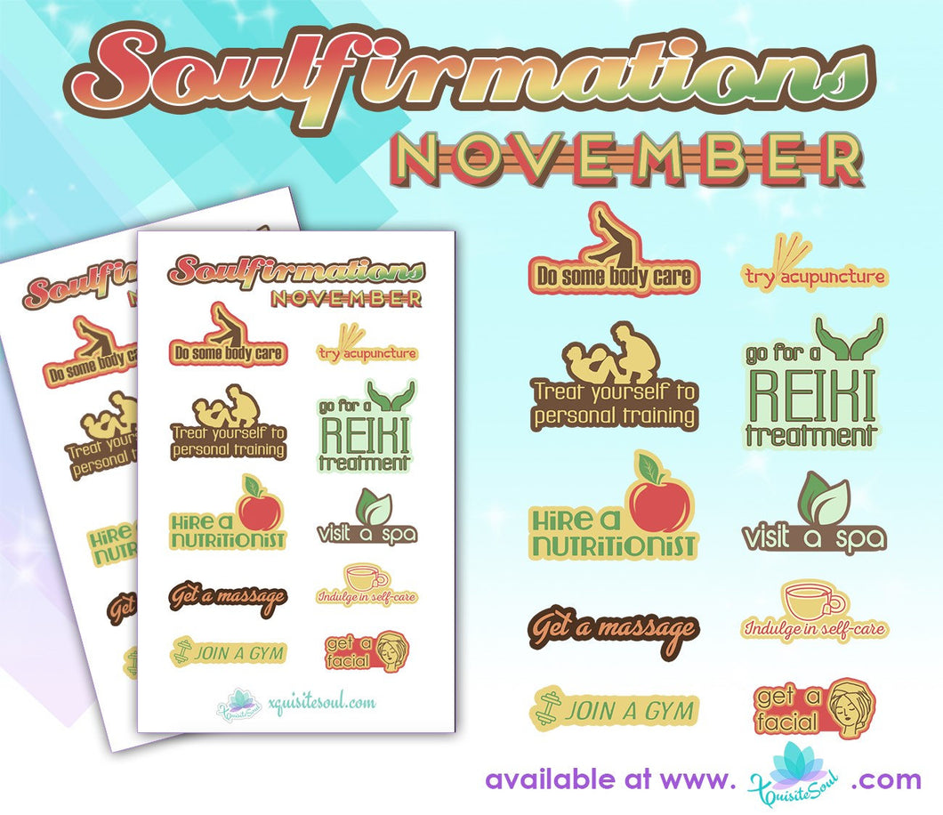 November Soulfirmations 25.0 - 12 Month Self-Care Challenge