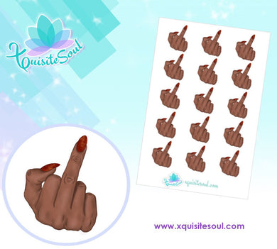 Middle Finger African American Stickers