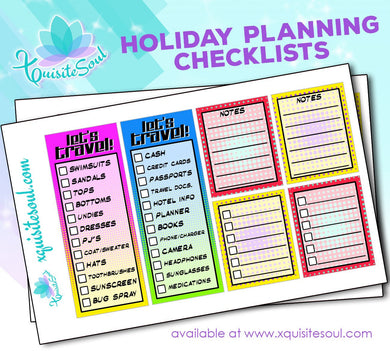 Holiday Planning Checklist Stickers