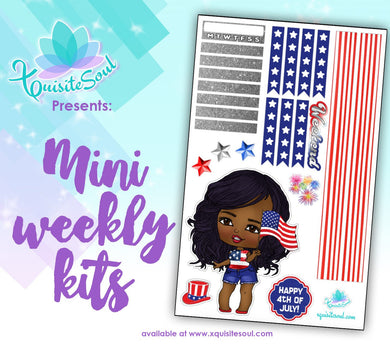 4th of July African American XQuibi Mini Weekly Kit