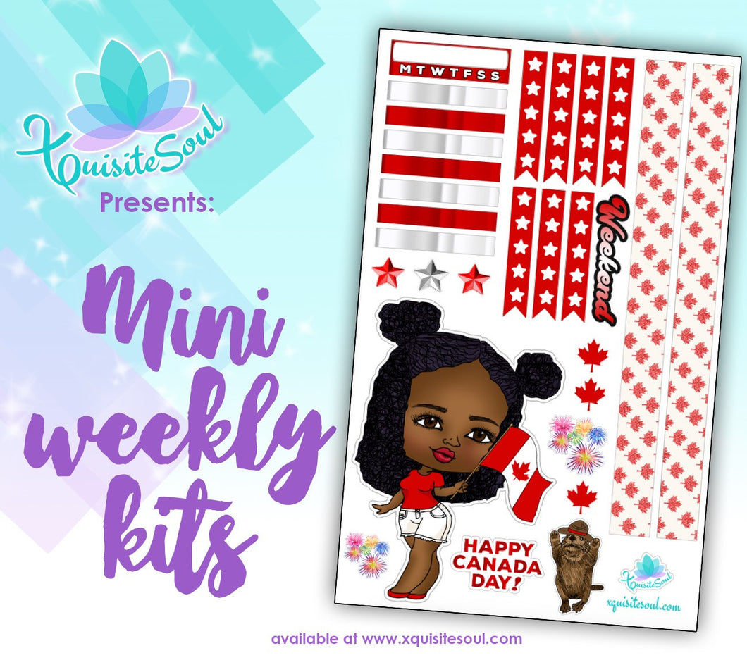 Happy Canada Day African American XQuibi Mini Weekly Kit