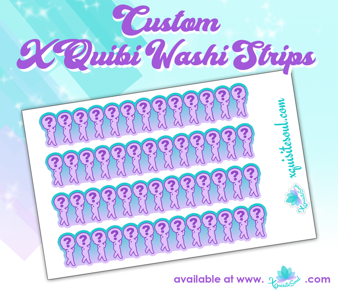 Custom Xquibi Washi Strips