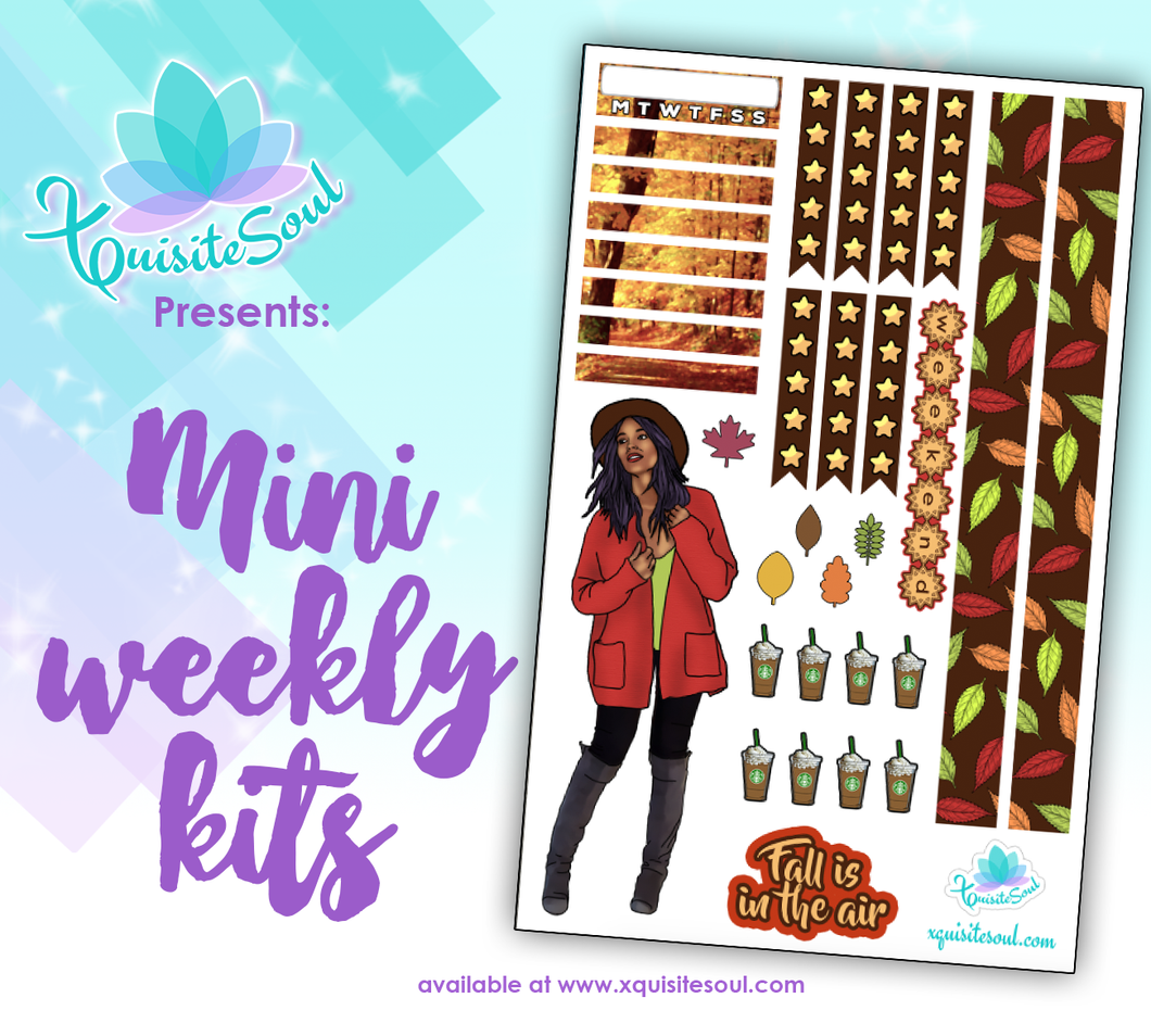 Fall Is In The Air African American Mini Weekly Kit