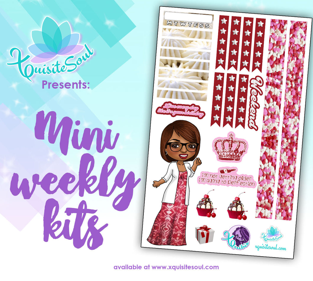 Live Like It's Your Birthday XQuibi African American Mini Weekly Kit
