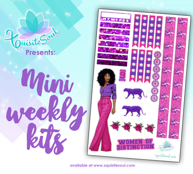 Hot Pink and Purple African American Mini Weekly Kit