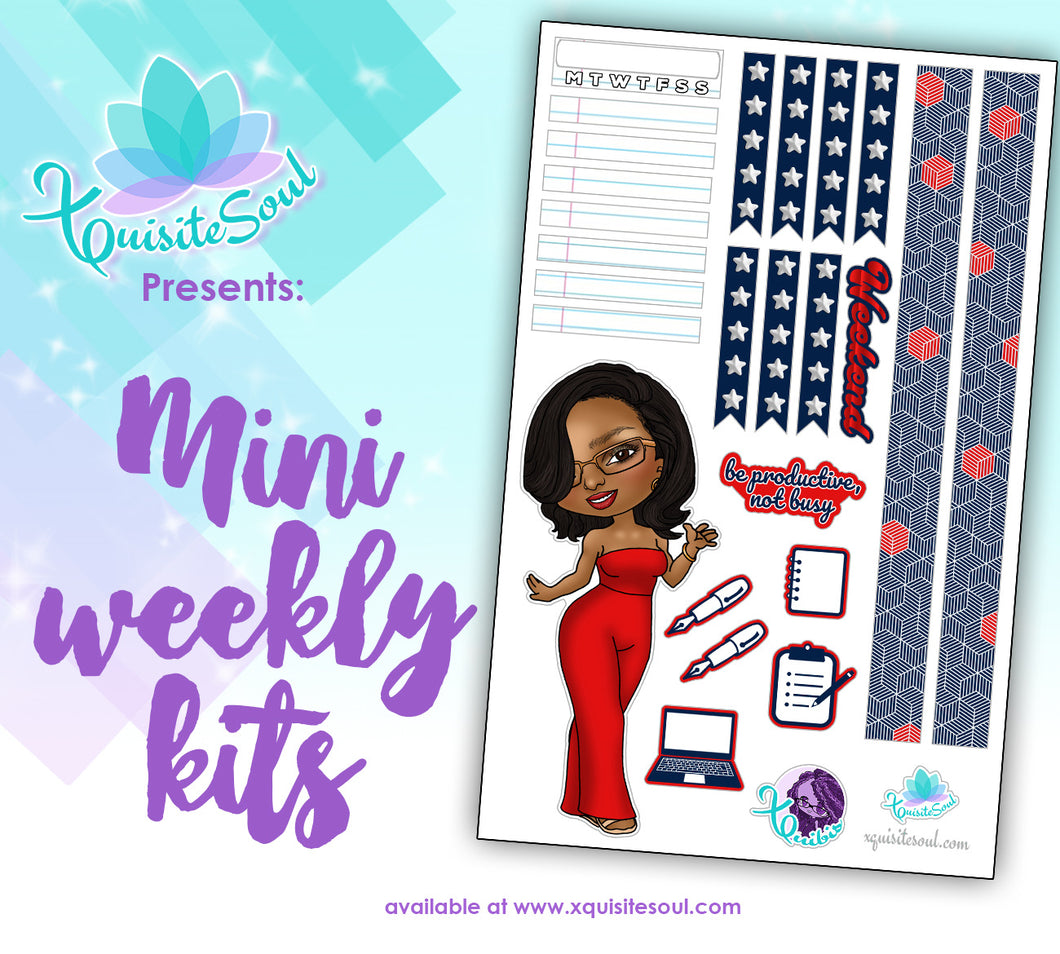 Be Productive XQuibi African American Mini Weekly Kit