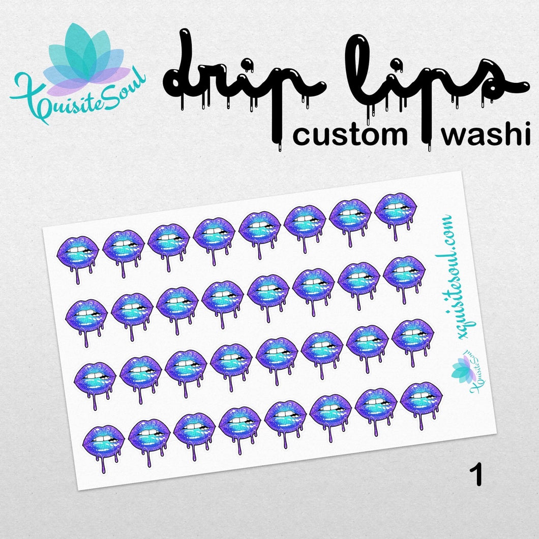 Pre-mixed Drip Lips Washi Strips