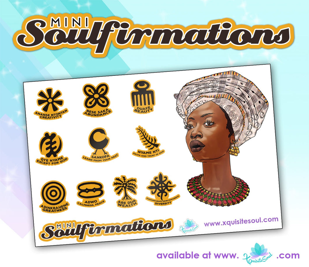Adinkra MINI Soulfirmations