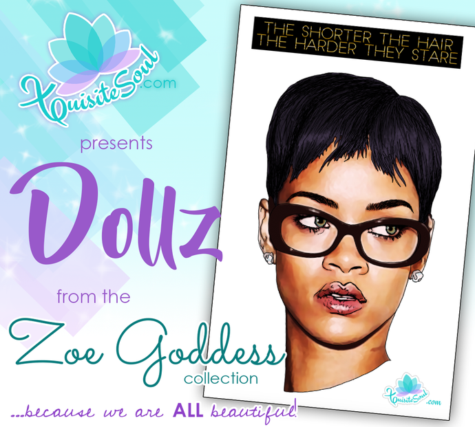 Short Hair Rihanna African American Dollz