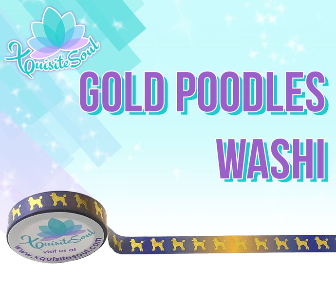 Gold Poodles Washi