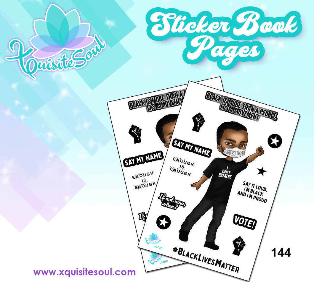 Black is a Movement XQuibi Sticker Book Sheet