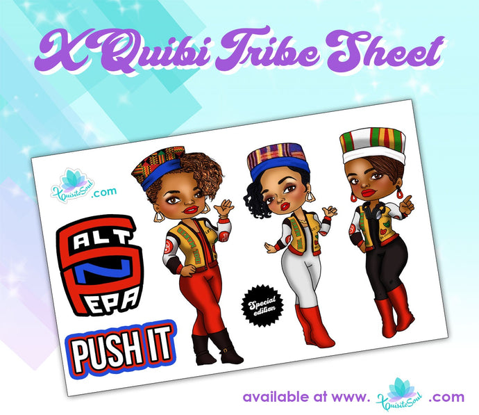 Salt n Pepa XQuibi Tribe Sheet