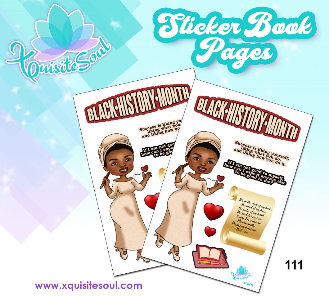Maya Angelou BHM Sticker Book Sheet