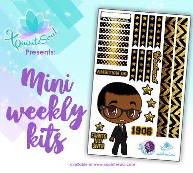 Black and Gold Fraternity African American XQuibi Mini Weekly Kit