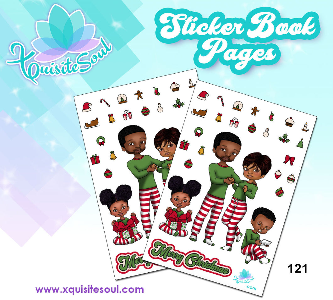 Christmas Family XQuibi Sticker Book Sheet