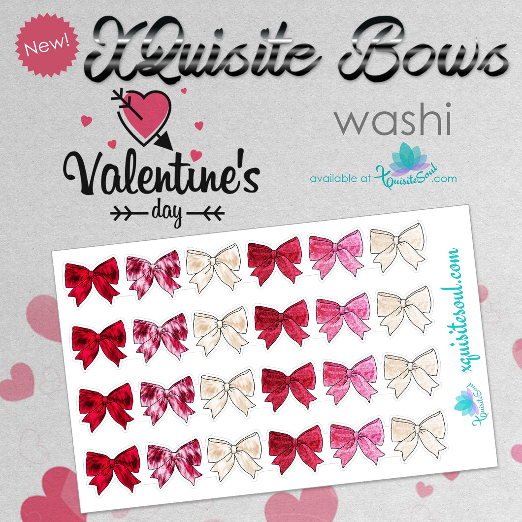 XQuisite Bows Washi Strips - Valentine's Day Edition