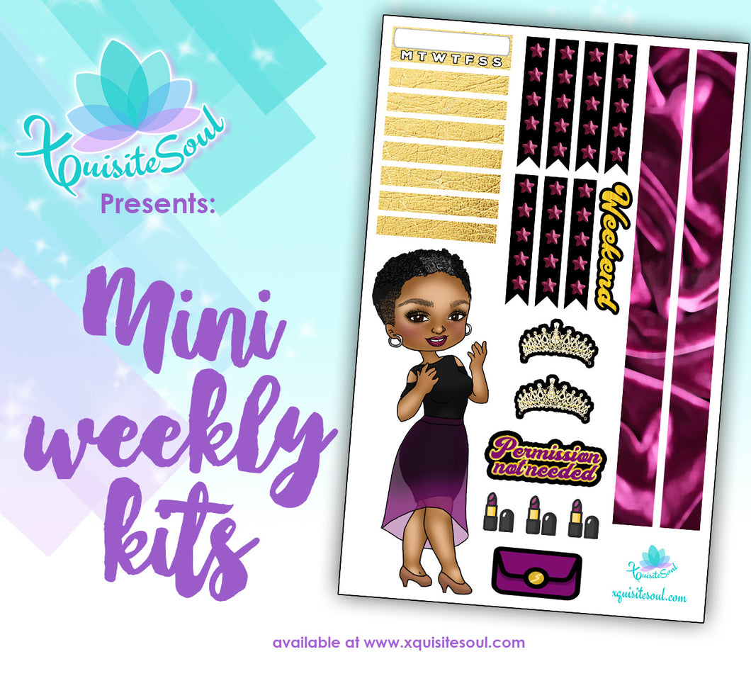 Permission Not Needed XQuibi African American Mini Weekly Kit