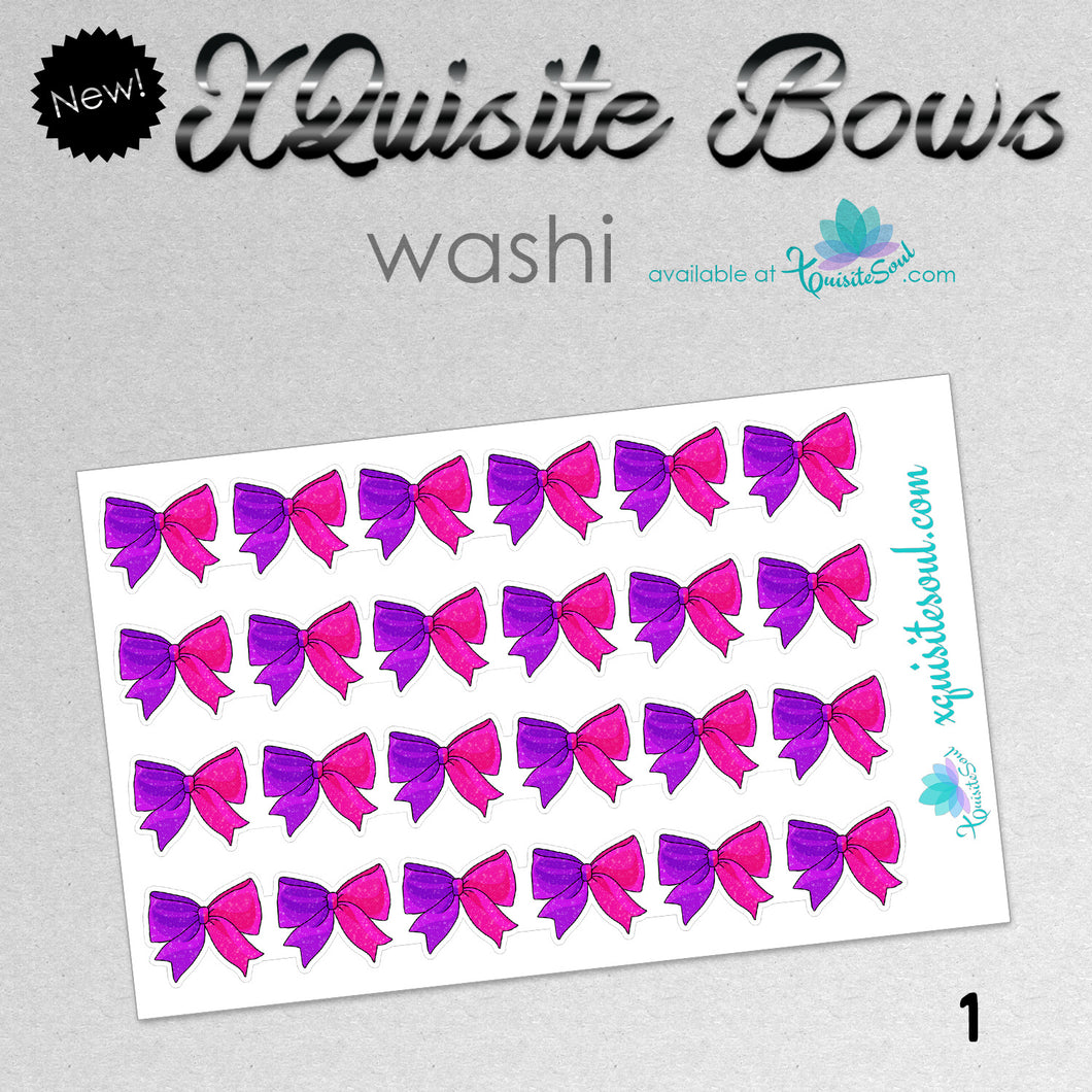 XQuisite Bows Washi Strips - Sorority Collection
