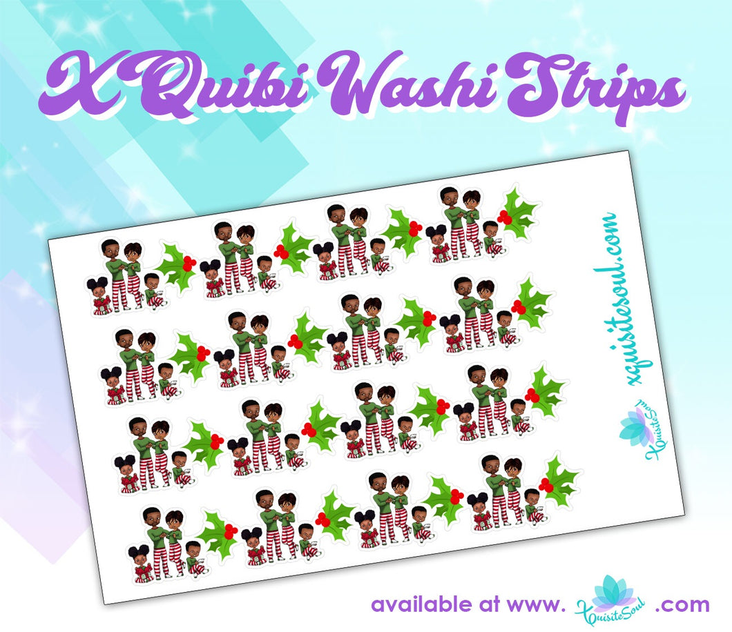 Christmas Family XQuibi Washi Strips