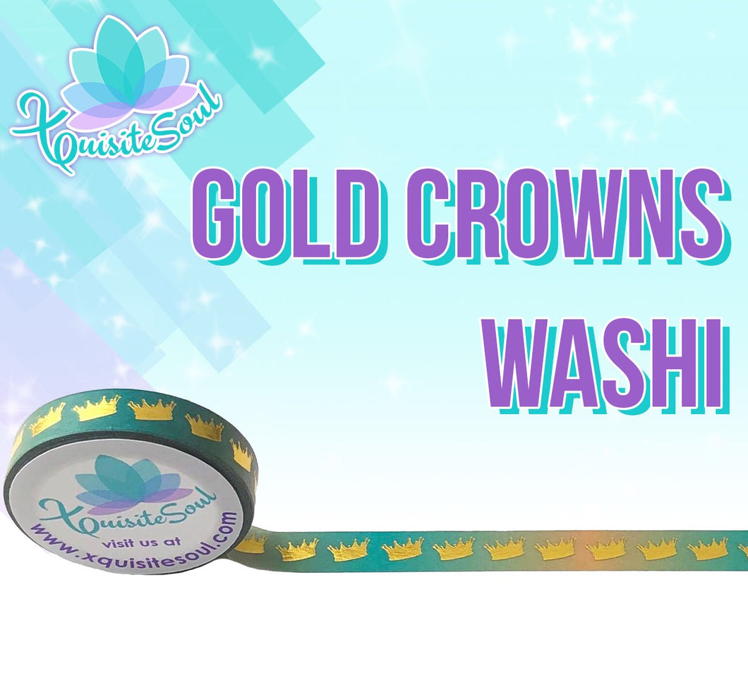 Gold Crowns Washi