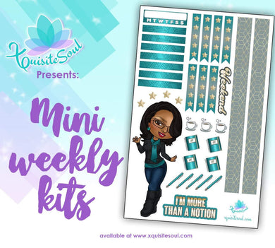 I Am More Than A Notion XQuibi African American Mini Weekly Kit