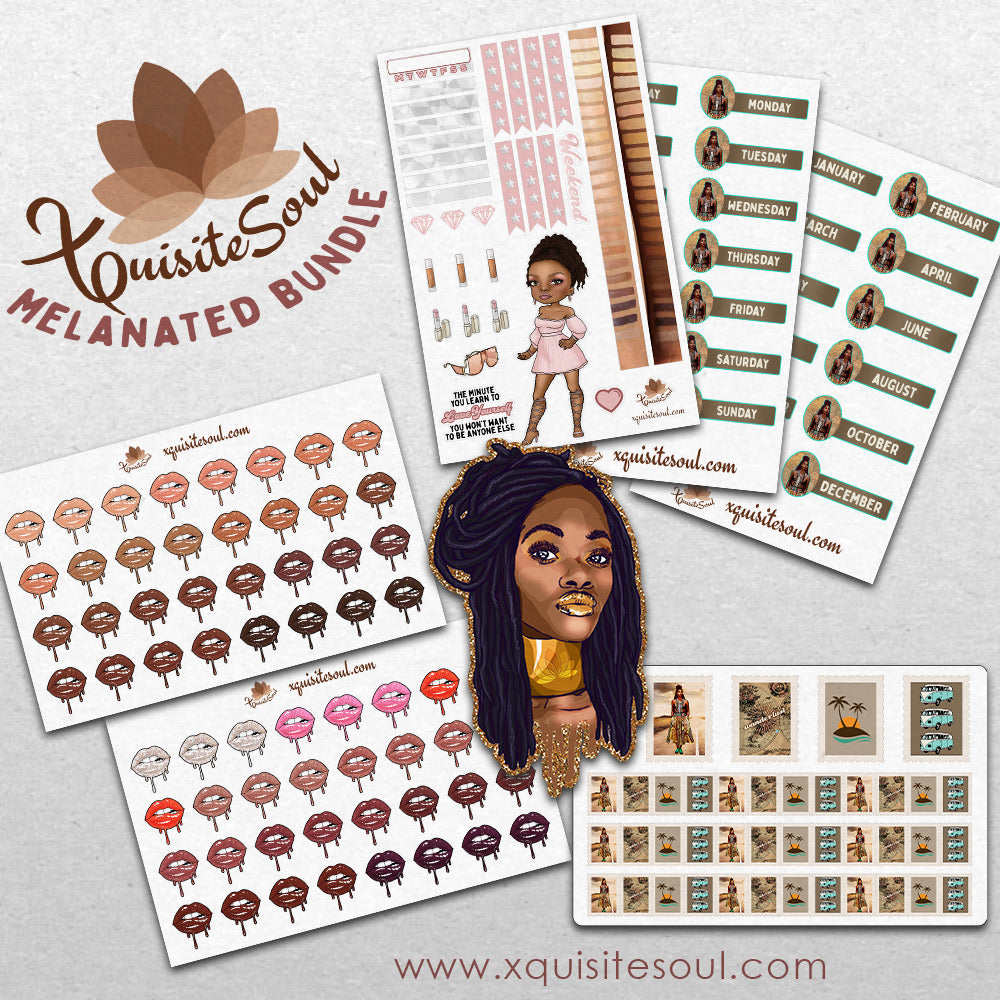 Melanated Sticker Bundle