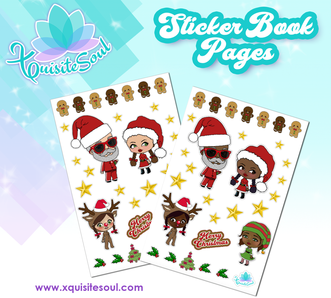 Christmas XQuibi Sticker Book Sheet